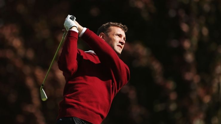 Shevchenko swaps his boots for spikes in professional golf debut