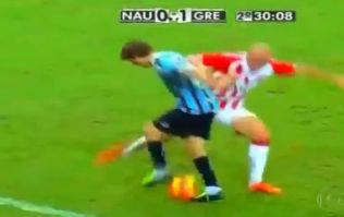 Video: Outrageous skill from Brazil as player nutmegs the same defender three times in one run