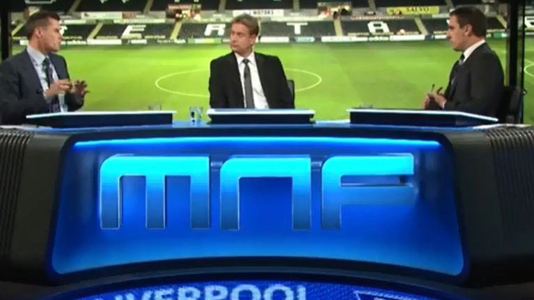 Video: Gary Neville and Jamie Carragher add their voices to the Scholes/Gerrard/