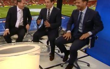 Video: Gary Neville trolls Luis Suarez before Man United v Liverpool