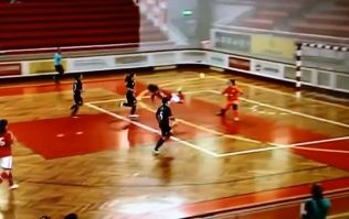 Video: Ridiculous women's futsal goal from Portugal as the keeper is lobbed by some sort of jumping backheel