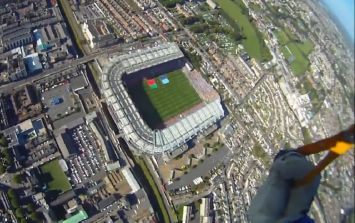 Incredible video of the All Ireland 2013 Football final parachute jump into Croke Park