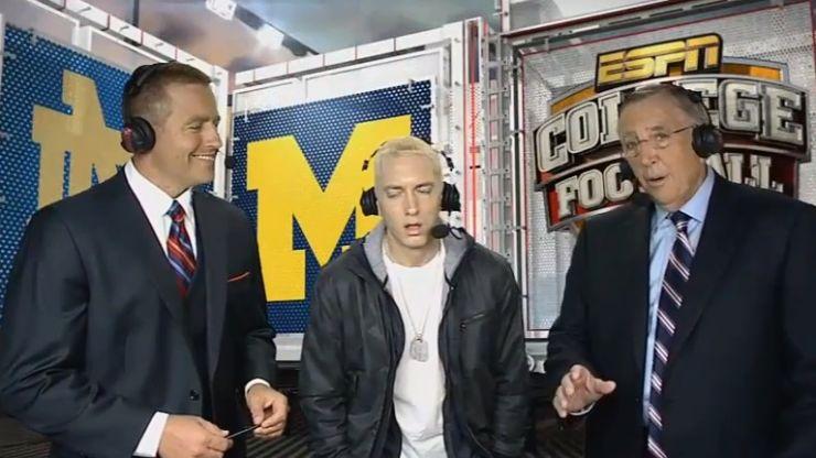 Video: Eminem's very awkward interview on ESPN last night