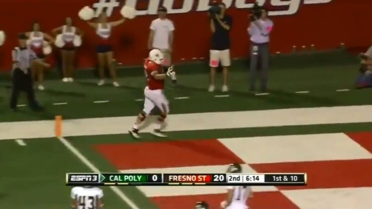Score one for the 'fat guys': Great trick play from college football sees offensive lineman on the scoresheet