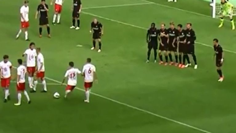 Video Six Players From German Lower League Team Combine For Brilliant Free Kick Routine