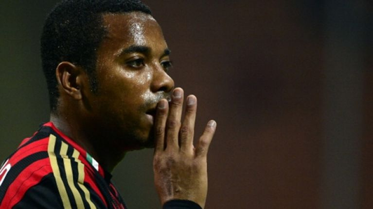 Video: Robinho with an open goal miss at the weekend