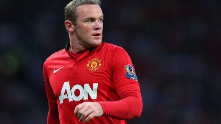 Wayne Rooney sporting some interesting head gear against