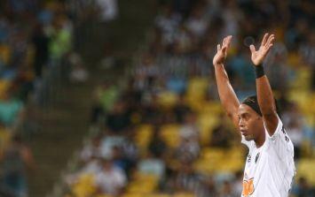 Video: Ronaldinho scored not one, but two superb free-kicks last night