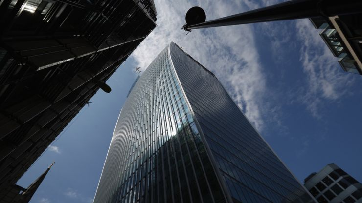 Pic: London's newest skyscraper is being blamed for melting this Jaguar