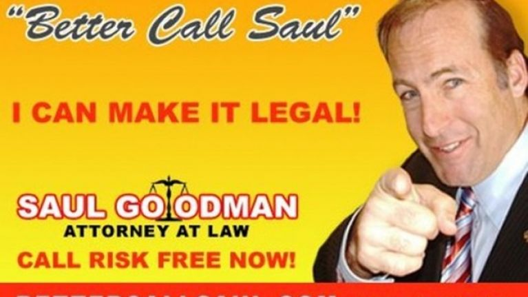 Image result for saul goodman advertisement