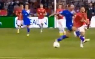 Video: Brutal, brutal tackle by Croatia's Josip Šimunić on Serbia's Miralem Sulejmani last night