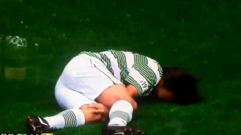 Video: One Direction star gets cleaned out of it at Petrov's testimonial game