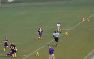 Video: Tiny kid scores incredible touchdown