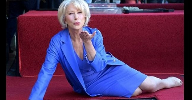 Your secret crush (try and deny it) Helen Mirren got a star today