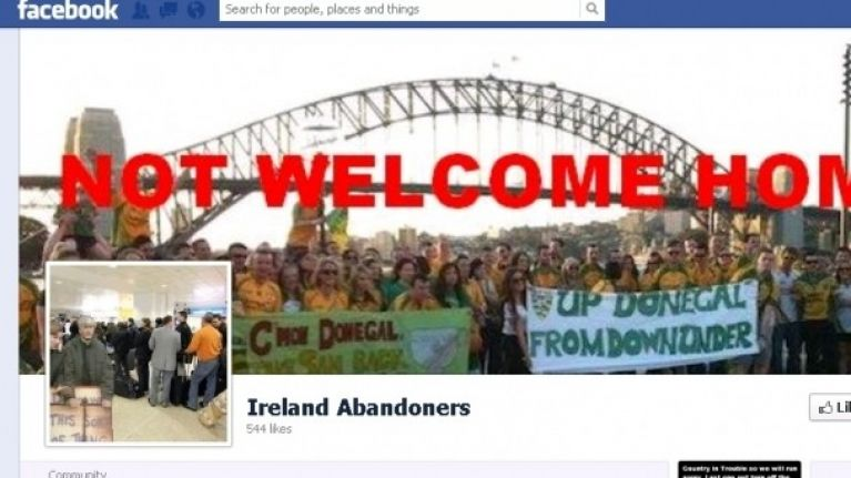 The Ireland Abandoners Facebook page has brewed up a bit of