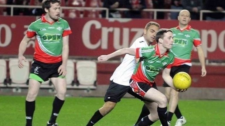 Video: Footage from Eire Og Seville's GAA exhibition match during a La Liga game this week