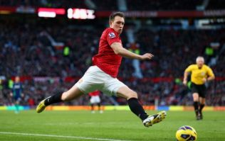 Pic: Phil Jones showing the battle scars from the win over Arsenal