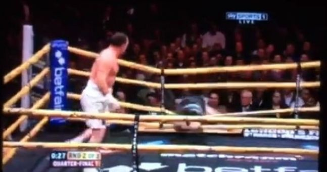 Video: Martin Rogan knocks his opponent out of the ring