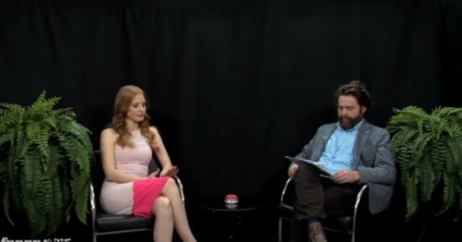 Video: Part Two of Zach Galifianakis' Between Two Ferns 'Oscar buzz' skit on Funny or Die