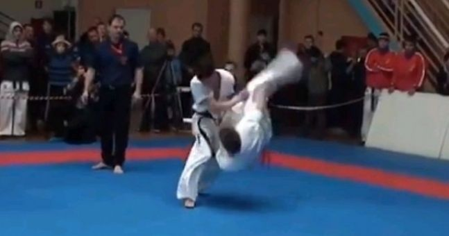 Video: You'll go a long way to see a better karate knockout than this