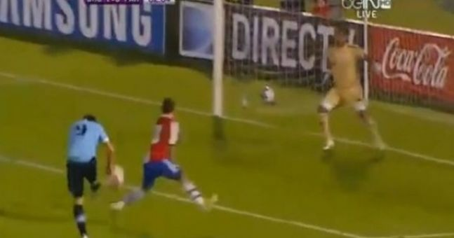 Video: Great volley from Luis Suarez last night