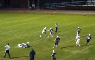 Video: The most incredible punt return for a TD you'll see today