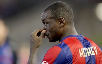 Video: Not even a moving train can stop Emile Heskey in his tracks