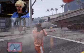 Video: Elderly granny goes on hilarious GTA V rampage