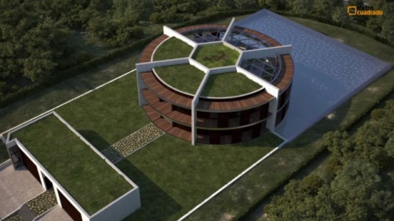 Pictures: Lionel Messi is building a house shaped like a football
