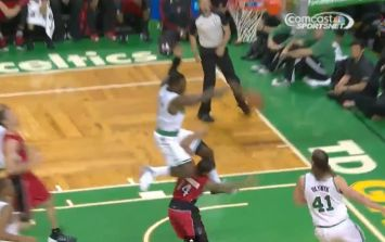 Video: Ridiculous block from the NBA as defender leapfrogs attacker