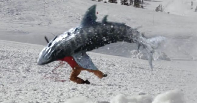 Video: The terrible trailer for Avalanche Sharks is here – the snow will run red with blood