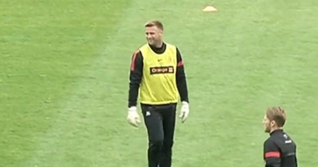 Video: Artur Boruc shows his talents are wasted in goals with classy training ground finish