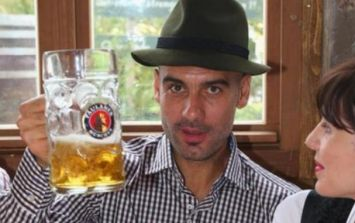 A dressing down from Guardiola - Bayern boss gets into the swing of Oktoberfest celebrations