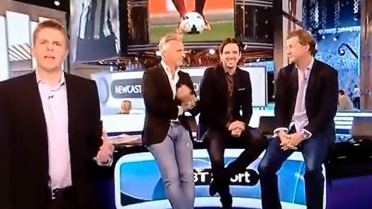 Video: David Ginola was caught making a very rude gesture live on BT Sport this afternoon