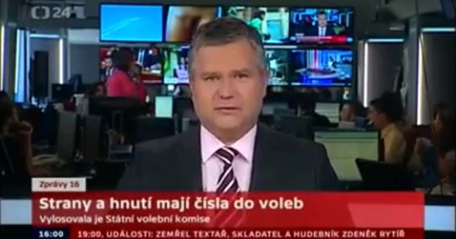 Video: What a cock-up on Czech TV as penis appears behind news anchor's head