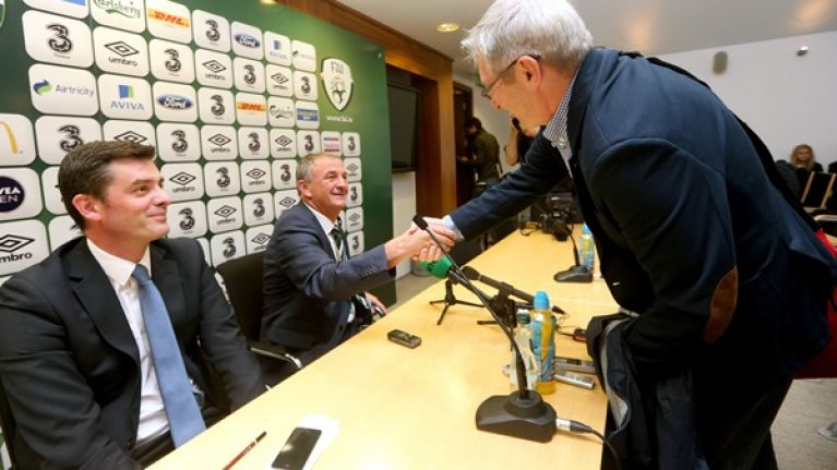Pics: Friends again. Noel King and Tony O'Donoghue have obviously put last night's tiff behind them