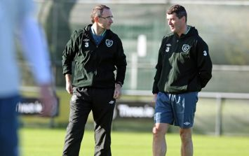 Pics: There's Martin O'Neill and Roy Keane taking Ireland training