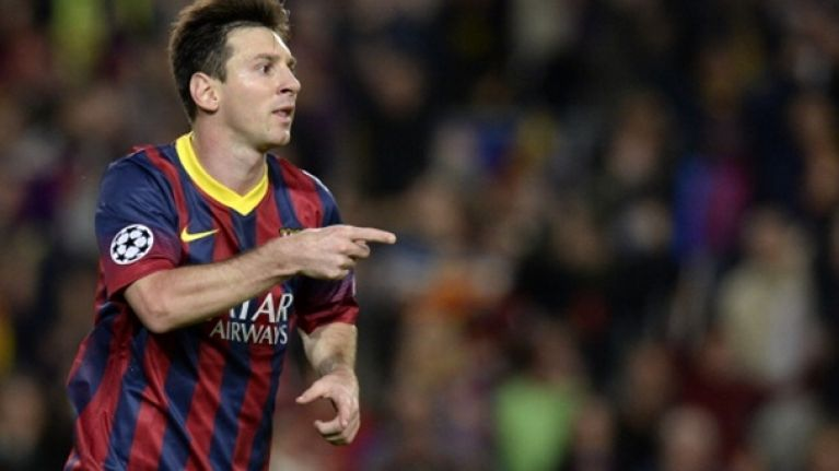 Video: He was offside, but check out Leo Messi's incredible backheeled finish last night