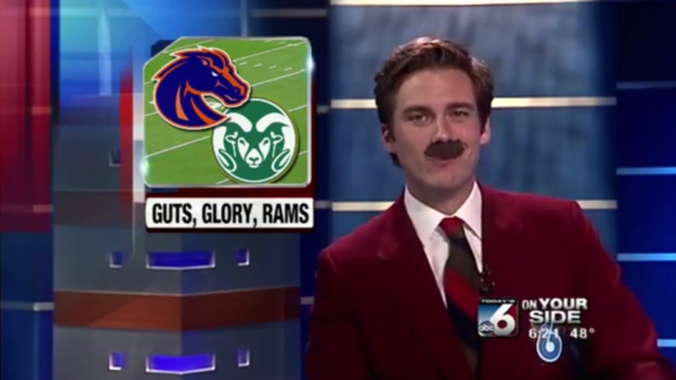 Video: News anchor reads entire broadcast as Ron Burgundy