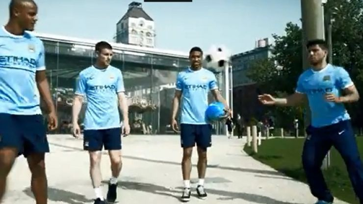 Video: Man City players show impressive juggling skills in New York City in new promotional ad