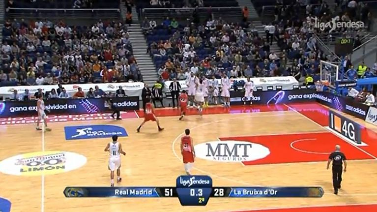 Video: The most ridiculous no-look buzzer-beater three-pointer you'll see today
