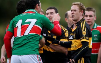 Picture: Things got a bit heated between the Gooch and his opponent yesterday