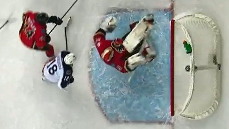 Video Ice Hockey Goalie Makes Unbelievable Bicycle Kick Save Joe