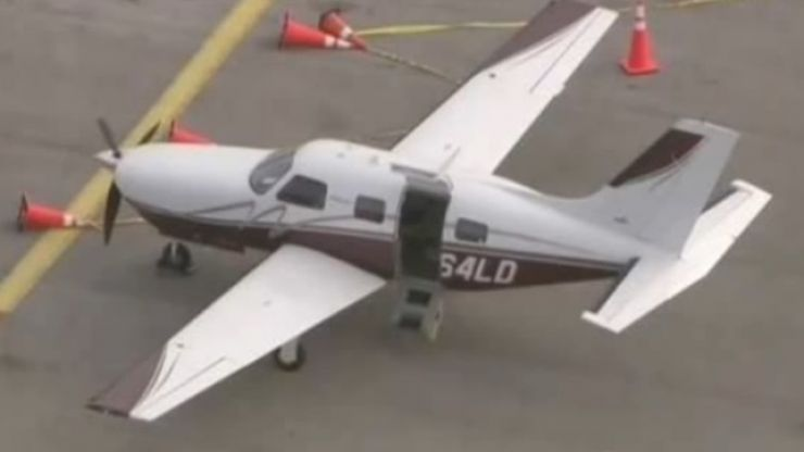 Audio: Pilot's distressed mayday call after passenger falls out of plane