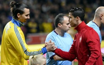 Video: Cracking clip of Ronaldo and Zlatan reacting to each other's goals on Tuesday night