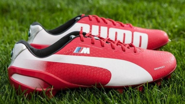 1e463543e27166 Video  The new Limited Edition BMW Puma evoSPEED 1.2 football boots are  very