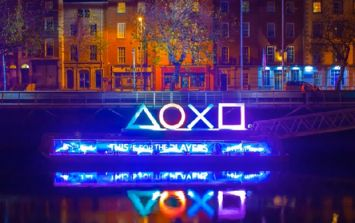 Video: Some spectacular footage of Dublin at night during the launch of the PS4