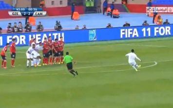 Video: Ronaldinho scores another beautiful free kick