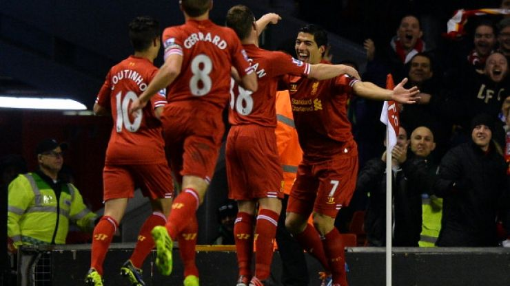Video: Luis Suarez has scored two absolute stunners on his way to a first half hat-trick