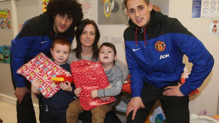 Pics: Some heartwarming moments as Manchester United players visit children's hospital